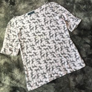 SOFT☁️Karen Scott Zebra Tee Shirt